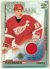 2003-04 Pacific Jerseys Gold 02/50 Steve Yzerman