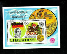 LIBERIA #622  1973  GOLD MEDAL WINNERS OLYMPICS     MINT  VF NH  O.G S/S  CTO