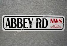 """Metal Sign ABBEY ROAD City of Westminster London England studios RD 3"""" x 12"""""""