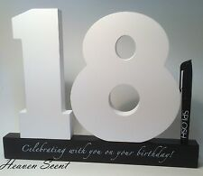 Happy 18th Birthday Gifts Wooden Signature Number Great Gift Ideas Splosh SN18