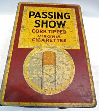 PASSING SHOW CIGARETTES VINTAGE ADVERTISING TIN LONDON  COLLECTIBLE TOBACCIANA