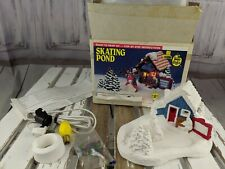 Wee crafts village xmas skating pond couple accents unlimited 21594