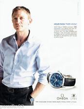 PUBLICITE ADVERTISING 066  2011   Omega montre Hour vision & Daniel Craig Orbis