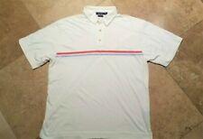 Nautica Short Sleeve Polo Golf Shirt Pima Cotton Ivory XL