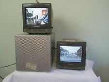 """Sony 9""""  Trinitron PVM 9020ME two monitors, one with a flight case"""