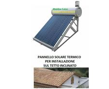 pannello solare termico 100 LT acqua acciaio inox tubi sottovuoto con barilotto
