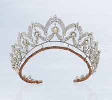 8.70ct Natural Round Diamond Ruby 14k Solid White Gold Wedding Anniversary Tiara Engagement & Wedding
