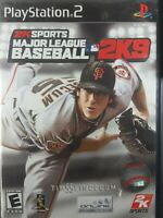 Major League Baseball 2K9 (Sony PlayStation 2, 2009) PS2 Game Complete W/ Manual