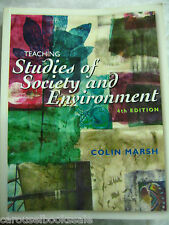 Teaching Studies of Society and Environment by Colin Marsh pb A89