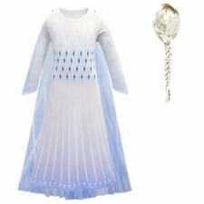 Kids Cosplay Elsa Costume Children Birthday Party Clothes Accessory Crow