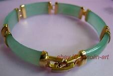 Femme/ filles merveilleux, vert jade ,plaqué or 18k,Bracelet ,19 cm