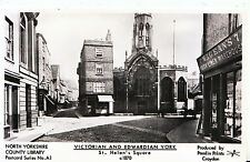 Yorkshire Postcard - Victorian and Edwardian York - St Helen's Square c1870 B114