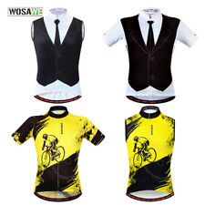 WOSAWE Mens Cycling Vest MTB Bike Sleeveless Jersey Breathable Gilet Sports Tops