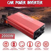 2000 1500 Watt DC12V 230V Reiner Sinus Wechselrichter Spannungswandler Inverter