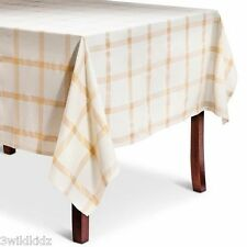 Threshold Gold Plaid Tablecloth  Rectangle 60X104