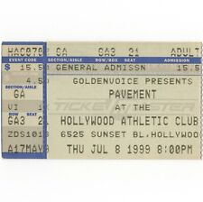 PAVEMENT Concert Ticket Stub LOS ANGELES 7/8/99 HOLLYWOOD TERROR TWILIGHT Rare