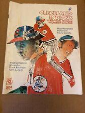 1976 Cleveland Indians Official Program Scorecard 5/31/76 Vs. Orioles HOFs