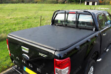 Ford Ranger T6 D/C Soft Roll Up Tonneau Cover - Fits With Factory Ladder Rack