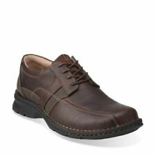 Men's Clarks Espace Comfort Shoes  Brown Oily Leather 260 86235