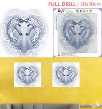 UK Full Drill Dual Unicorn 5D Diamond Painting Embroidery Cross Stitch Kit Decor