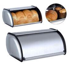 Stainless Steel Bread Box Storage Bin Keeper Food Container Kitchen Supplies