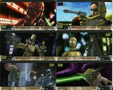 Star Wars Clone Wars Widevision Complete Animation Cel Chase Card Set #1-10