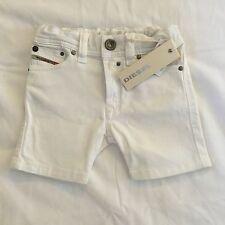 Diesel Primob 6m Infant Baby Boy White Shorts BNWT RRP £59 Pants Jeans Bottoms