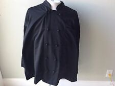 Chef Apparel 350 Degrees 4 Xl Black New 10 Knot Button Coat Jacket Twill