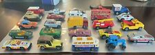 Vintage 1970's Lesney matchbox Superfast 24 lot Vehicles collection w Carry Case