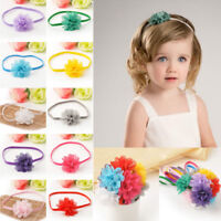 10Pcs/set Baby Girl Infant Toddler Flower Headband Chiffon Headwear Hair Band