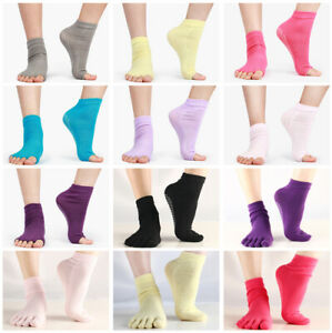Women Open-back Yoga Socks Non-slip Sock Finger Sport Dance Train Split Toe Sock