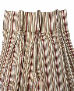 """SET of 4 Custom Pinch Pleat Lined Heavy Drapes Each 20""""x92"""" MCM Striped Textured"""