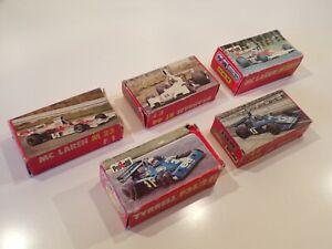 Polistil vintage 1/55 Formula 1 car lot x5 Mclaren Tyrrel Brabham etc boxed VGC