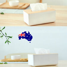 Wooden Cover Plastic Tissue Box Paper Home/Car Holder Organizer Dispenser NW