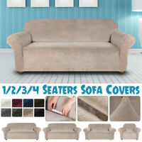 1/2/3/4 Seater Sofa Covers Stretch Chair Couch Cover Elastic Slipcover Protector