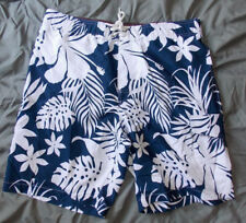 2303ef1ca7 Men SONOMA Blue With White Floral Pattern Swim Trunks Size Medium / Large