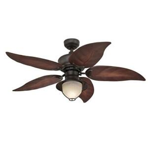 Oasis 48-Inch Indoor/Outdoor Ceiling Fan with LED Light Fixture 7236200