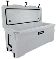 CASCADE COOLERS WHITE 150L PRO SUMMIT SERIES ROTOMOLD ICE CHEST COOLER