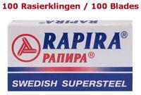 100 Lames de Rasoir Rapira Suédois Super Acier pour Sécurité Double Bord