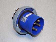 Leviton 5100B9W Flanged Inlet; 100 Amp, 120/208 Volt, 4-Pole, 5-Wire, Blue