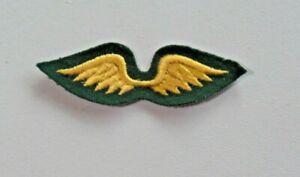 Girl Scouts of American Embroidered Scout Wings Patch Felt Gold Wings 7962