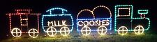 LG Toy Christmas Train Outdoor Holiday LED Lighted Decoration Steel Wireframe