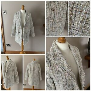 ladies ivivi smart jacket size S/M multicolourd weave polyester