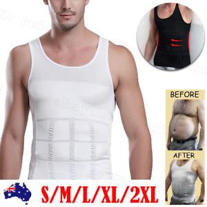Men Men's Slimming Body Slim Shaper Underwear Corset Compression Dad Vest/shirt