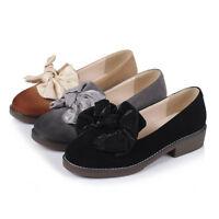 Women Fashion Oxfords Casual Shoes Suede Leather Shoes Slip On Flats Loafer New