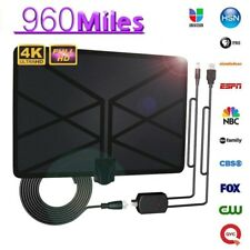 1080P Indoor Digital TV Antenna 120/960Mile Aerial Signal Amplified HD Antenna