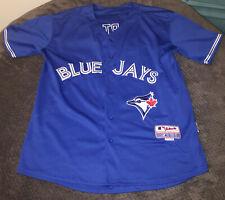 Vintage Toronto Blue Jays Majestic MLB Russell Martin 55 Jersey Cool Base Sz 48