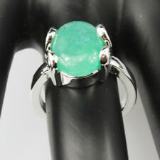 Green Aventurine Gemstone  Jewelry 925 Silver Plated Men Women Ring Size 7