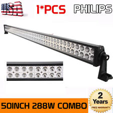 Philips 50inch 288W LED WORK LIGHT BAR Offroad Driving Combo Lamp 4WD ATV 48/52