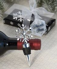 Elegant Snowflake Alloy Red Wine Stopper Xmas Gift Wine Bottle Stopper 11cm ^F